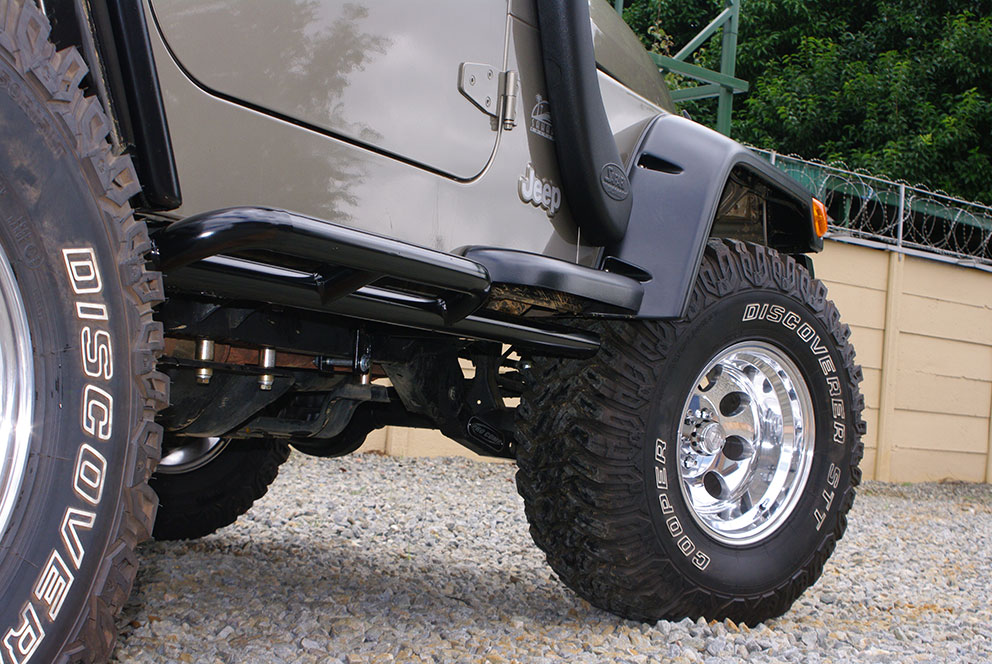 Rock Sliders Heavy Duty Std Colour Black Onca Off Road